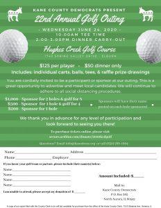 2020 Kane Dems Golf Outing @ Hughes Creek Golf Course