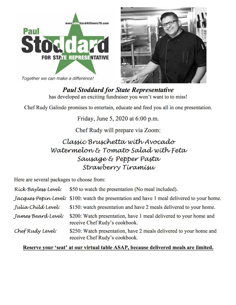 Cooking with Chef Rudy & Paul Stoddard Fundraiser @ Zoom