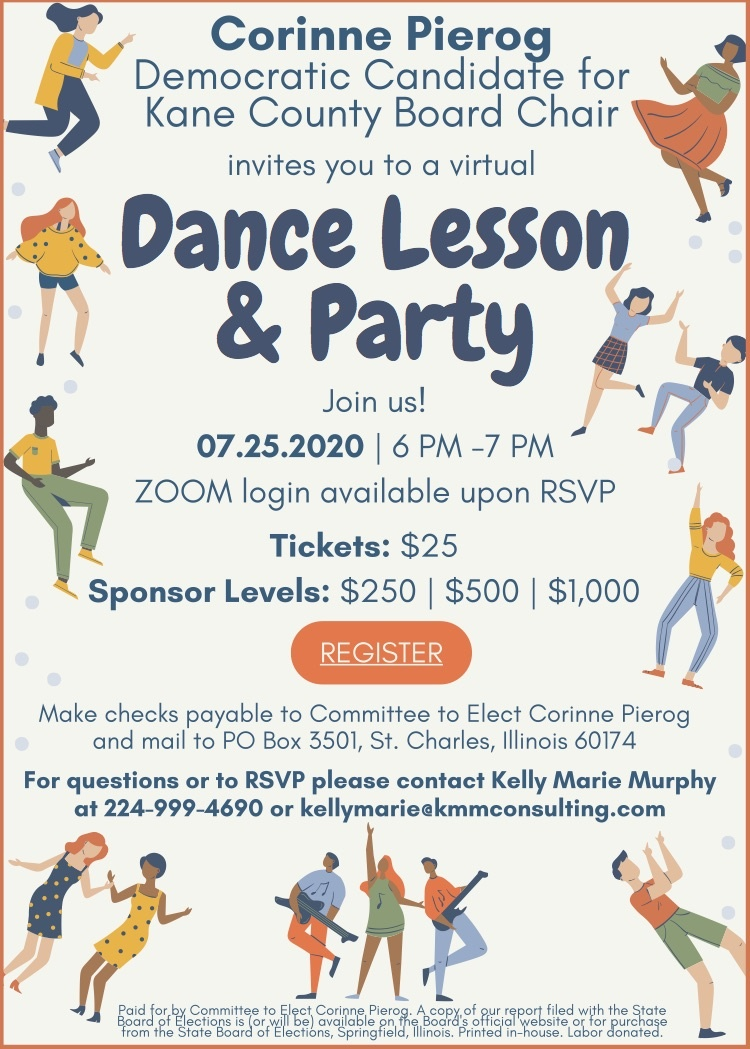 Corinne Pierog Dance Party Invite